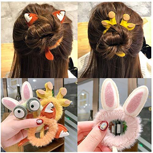 Dlfalg Leuke Bont Cartoon Haar Touw Vrouwen Paardenstaart Houder Haar Scrunchies Mooie Dier Elastische Haarbanden Mode Haaraccessoires