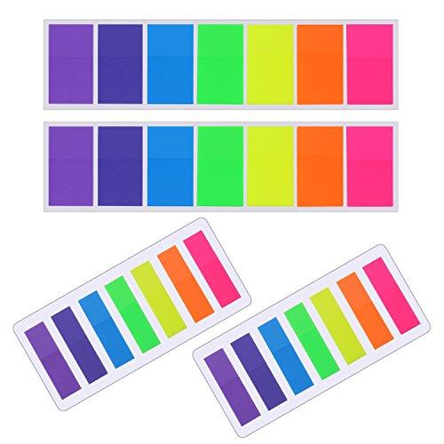 560 Stück Haftnotizen Flaggen Notizzettel Index Tabs Text Textmarker Strips Beschriftbare Etiketten Seitenmarker Lesezeichen, 2 Größen, 7 Farben, 4 Set
