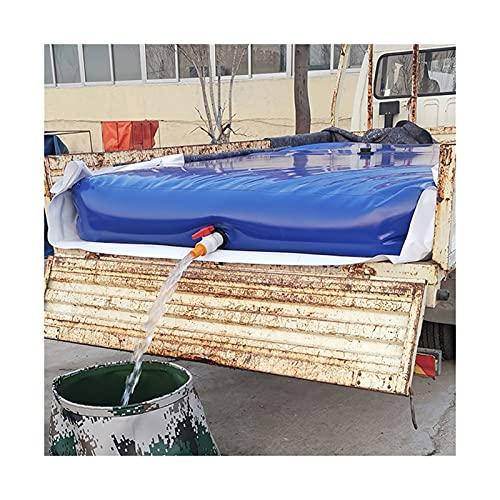Contenedor Portador De Agua De Gran Capacidad Para Exteriores, Tanque De Almacenamiento De Agua De Emergencia Portátil Con Grifo, Portador De Agua Plegado ( Color : Blue , Size : 180L/1x0.6x0.3M )