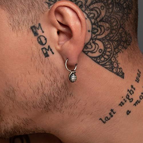 925 Sterling Silber Ohrring für Männer Hoop Ohrring mit Charme Männer Ohrring Huggie Hoop Ohrring Männer Schmuck Geschenk für Männer Geschenk cool Ohrring kleinen Reifen