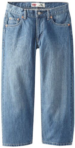 Levi's Boys' Big 550 Relaxed Fit Jeans, Catapult, 10 Husky