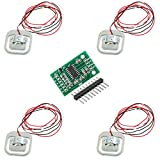 CHENBO(TM)4Pcs 50kg Load Cell Body Scale Weight Weighting Sensor Half-bridge/Amplifier with 1pcs HX711 A/D Module