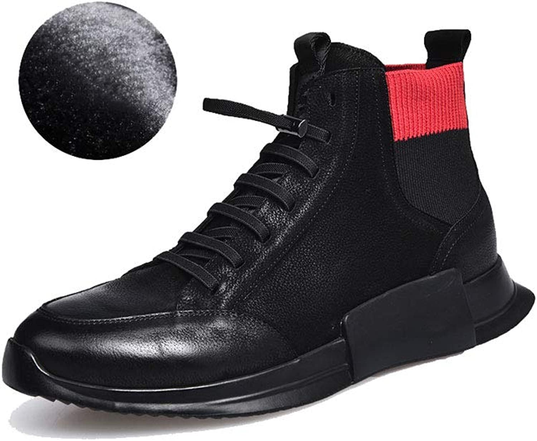 Ailj Snow Boots, Men's Warm Boots Plus Velvet Sports Boots Warm Cotton shoes Non-Slip Waterproof (Black) (color   Black, Size   39 EU 7 US 6 UK 24.5cm JP)