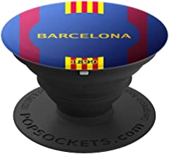 Barcelona City Soccer Pop Socket for Spain Team Football Fan - PopSockets Grip and Stand for Phones and Tablets