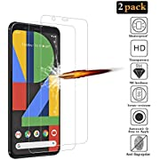 ANKENGS Google Pixel 4 Screen Protector [2 Pack], Google Pixel 4 Glass Screen Protector, [Full Coverage] [Anti-scratch] [Bubble Free] Tempered Glass for Google Pixel 4