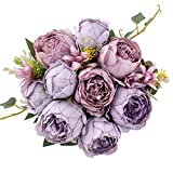 Jim`s Cabin Artificial Flowers Silk Lavender Peony Flower Bouquet Floral Plants Decor for Home Garden Wedding Party Decor Decoration
