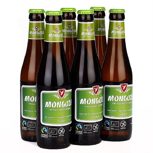Original belgisches Bier BIO - MONGOZO Pils BIO 5 % vol 6 x 33 cl. Karneval und Party!!