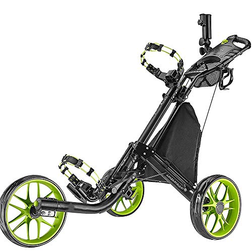 Best Prices! SDJIEMN Golf Cart Front Wheel with Trolley 360 ° Rotating Grit Manual Push-Pull Cart,Black