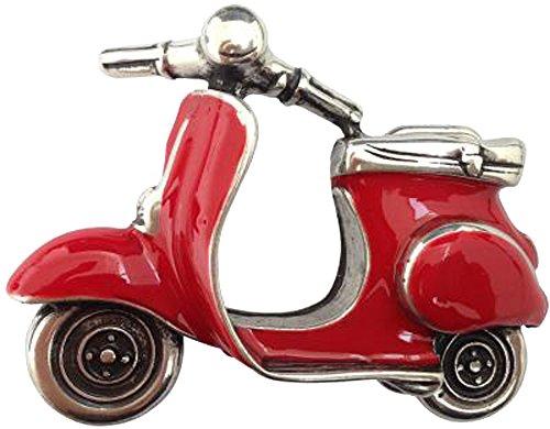 Norman K Modedesign Gürtelschnalle Motorroller rot