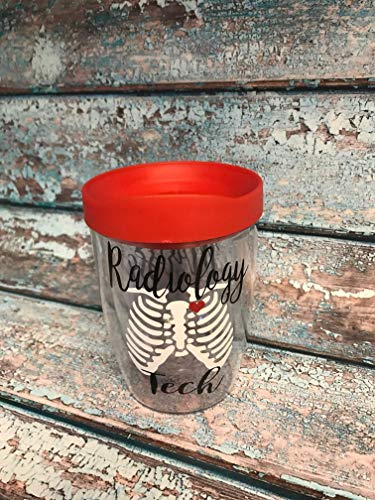 Gift Radiology Tech Personalized Tumbler Cups Clinical Instructor Technologist Present Healthcare Worker Students Graduation Nurses Week
