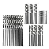 SZ-LY Taladro helicoidal de vástago Recto de Acero de Alta Velocidad, 40 Juegos de Accesorios para Herramientas de perforación, Adecuado para perforación de aleación de Aluminio de Madera y plástico