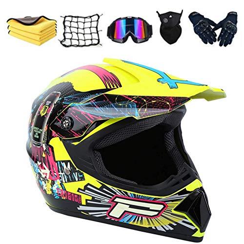 AGVEA Casco de motocross niños, para adultos para exteriores casco de bicicleta...