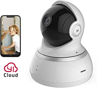 YI Dome Camera 2MP 1080p HD Wireless IP Security Surveillance Night Vision, Baby Monitoring Camera, Motion Detection, Sound Detection - White