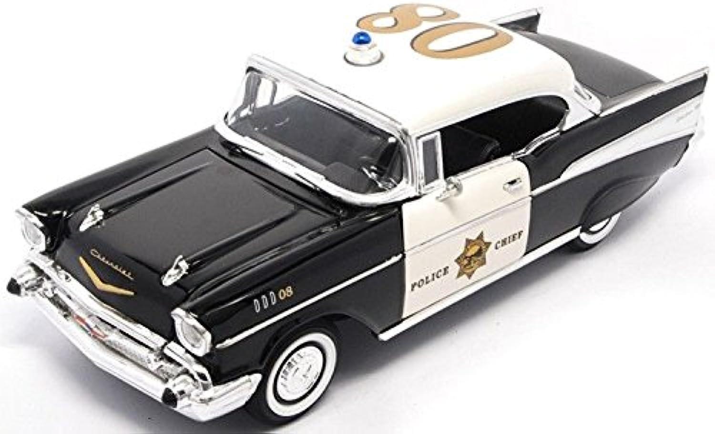CHEVROLET BEL AIR HARDTOP 1957 polizia 1 18 - Lucky Die Cast - Forze dell'Ordine - Die Cast - modellolino