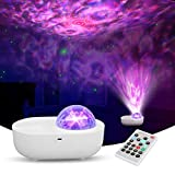Night Light Projector - Starry Projector - Galaxy Projector with Led Nebula Cloud/Moving Ocean Wave - Star Projection Lamp with Bluetooth Speaker for Kids Adults Ceiling Party Game Home Decor