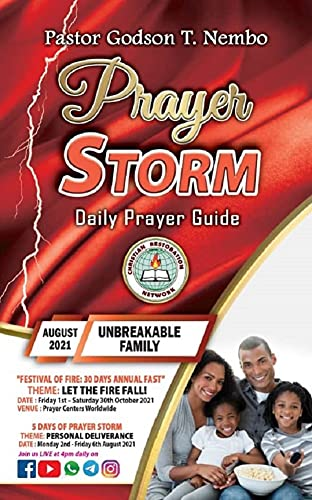 Prayer Storm: AUGUST 2021 – UNBREAKABLE FAMILY (English Edition)
