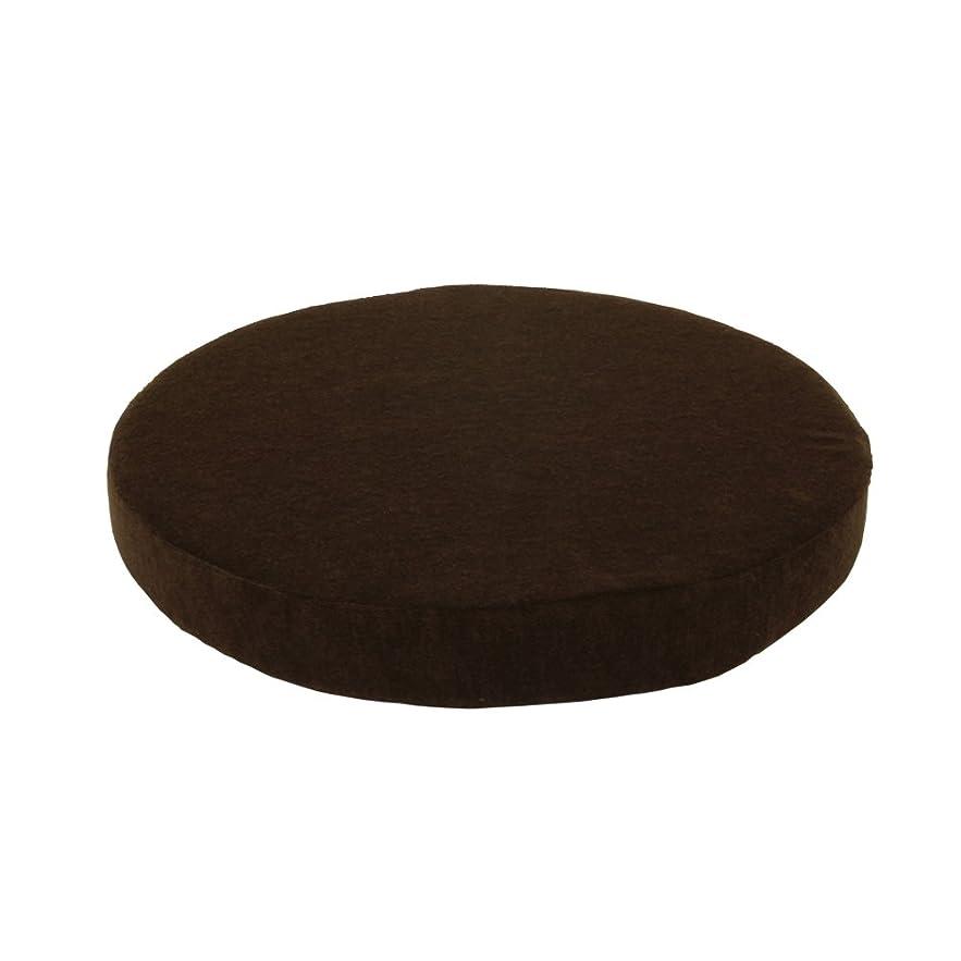 身元ガイドプラットフォームWEIMALL 座布団 クッション 40 cm 厚さ5cm 低反発 高反発 2層構造クッション 丸形 ブラウン