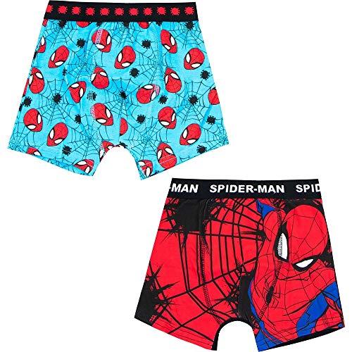 Spiderman 2tlg. Set Jungen Boxershort Slip Schlüpfer Unterhose rot blau (Numeric_104)