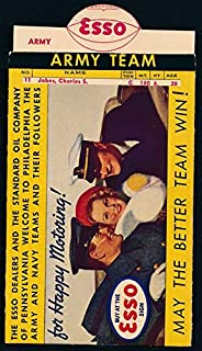 1938 ARMY vs NAVY Football Teams Sliding Rosters - ESSO Oil Giveaway 138939