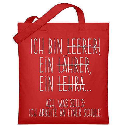 Chorchester Hochwertiger Jutebeutel (mit langen Henkeln) - Ideal für jeden Leerer - oder Lehrer?