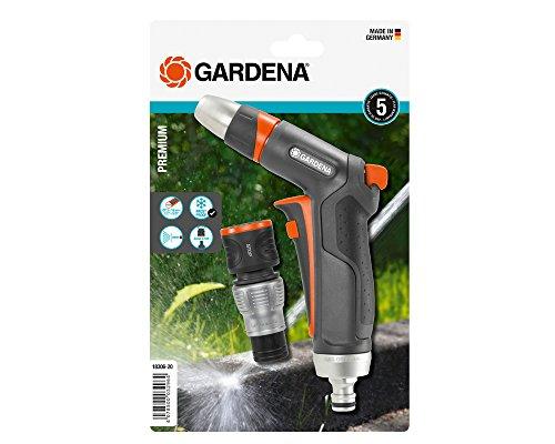Gardena Premium Reinigungsspritzen-Set: Robuste Reinigungsspritze und Wasserstop-Anschlussstück, praktisches Bewässerungs-Set, Frostschutz (18306-20)