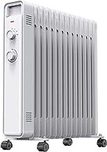XZ Calentador eléctrico Estufa a la parrilla Estufa Calentador de aceite de aceite Hogar Invierno Ahorro de energía Calentador eléctrico Velocidad caliente Interior - Blanco 2200W Electrodomésticos