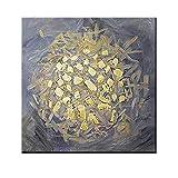 ZNYB Decoracion Cuadro Lienzo Pintura al óleo Abstracta con Textura Dorada, diseño de Lienzo, Arte de Pared, Pintado a Mano, Piezas de decoración del hogar, Pinturas acrílicas, Arte en Lienzo