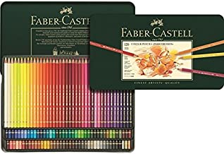 Faber-Castell Polychromos Colored Pencil Set in Metal Tin 120pc-
