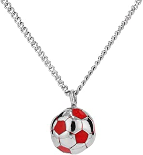 SAKAIPA Football Necklace 3D Football Futbol Charm Pendant Necklace Sport Jewelry Men's and Women's Necklace