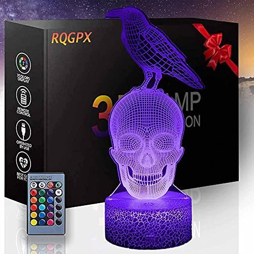 Lámpara de ilusión óptica 3D esqueleto regalo perfecto para niños y decoración de habitación Darth Vader personajes