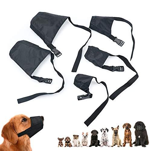 Hundemaulkorb aus atmungsaktivem Netzstoff, Sicherheit für Hunde, mit verstellbarer Schlaufe und weichem Polster