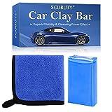 SCOBUTY Car Clay Bar, Barra di Argilla per Auto, Detergente per Barra di Argilla di Grado Premium con capacità di Lavaggio e Assorbimento per la Pulizia di Auto Camper Barche e Autobus