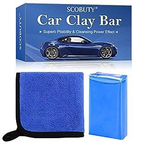 SCOBUTY-Barra-de-Arcilla-Coche-Car-Clay-Bar-Barra-Limpiadora-Auto-Detallado-Reutilizable-Auto-Cleaning-Clay-Bar-Cleaner-para-Automviles-Camiones-Auto-Vehculos-con-Capacidad-de-Lavado-y-Adsorcin