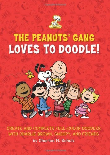 The Peanuts Gang Loves to Doodle: Create and Complete Full-Color Pictures with Charlie Brown, Snoopy, and Friends by Running Press (2013) Paperback