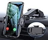Universal Car Phone Mount Car Phone Holder for Car Dashboard Windshield Air Vent Long Arm Strong Suction Cell Phone Car Mount Fit with All Phones
