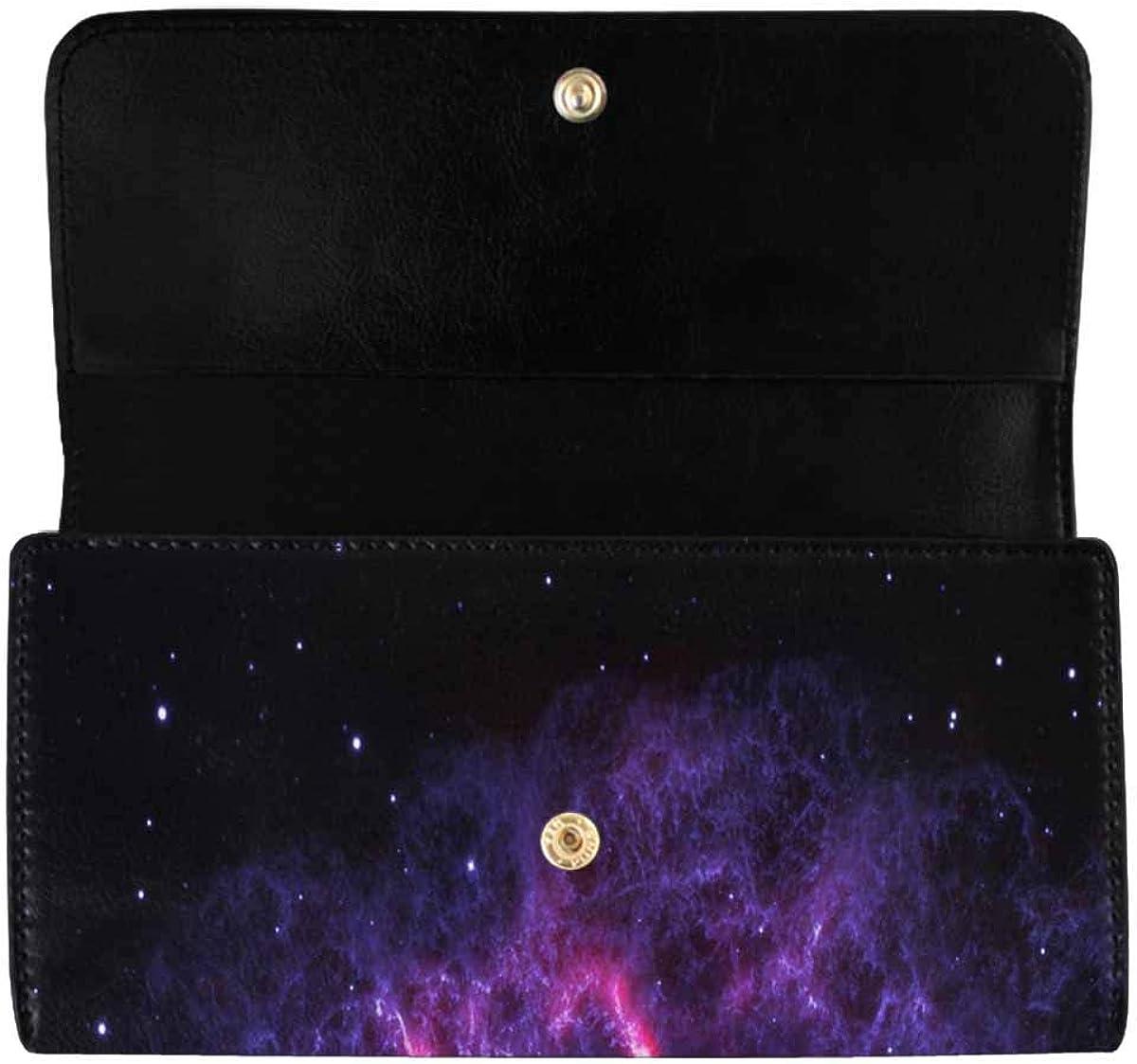 InterestPrint Women's Trifold Clutch Card Holder Watercolor Strawberries Purses Wallet Handbags