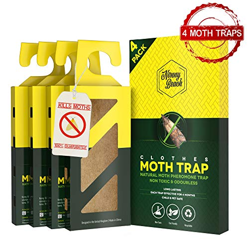 Moth Traps (4 Pack) for CLOTHES, CARPETS, WARDROBES &...