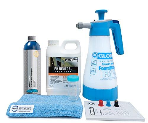 Autopflege-Shop.de Gloria Foam Master FM10 + ValetPro Snow Foam + Koch Chemie NanoMagic Shampoo + Zubehör