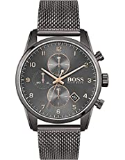 Hugo BOSS herr analog kvartsklocka med rostfritt stålrem 1513837