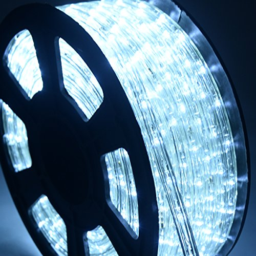 DREAMADE Lichterschlauch Lichtschlauch Lichterkette 10M 360 LEDs LED-Lichtschlauch 50000h Farbewahl PVC Isolierung (Weiß)