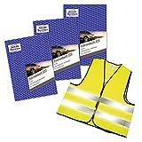 AVERY Zweckform 223-3A Fahrtenbuch für PKW (vom Finanzamt anerkannt, A5, 80 Seiten für insgesamt 858 Fahrten, für Deutschland und Österreich) 3 Stück + Warnweste GRATIS