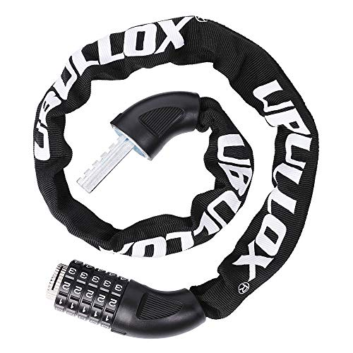 UBULLOX Bike Chain Lock 2.95FT Combination Bike Lock 5-Digit Resettable Combination Bicycle Lock Anti-Theft Combination Bicycle Chain Lock for Bicycle, Motorcycle and More
