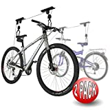 2004 2-Pack RAD Cycle Products Bike Lift Hoist Garage Mtn Bicycle Hoist 100LB Cap