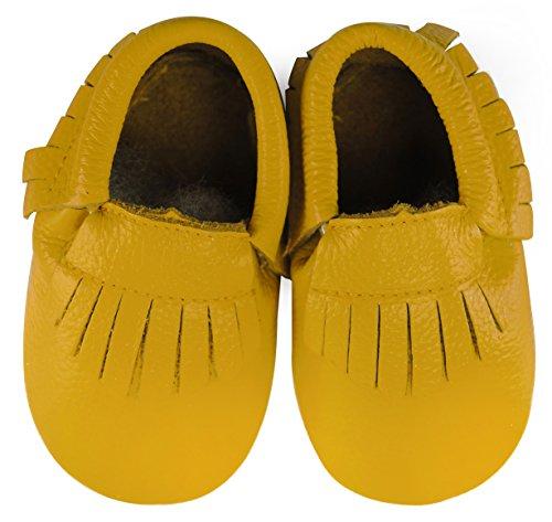 axy , Chaussures souple pour bébé (garçon) jaune 12-18 mois