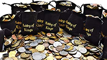100 Different Coins from Many Countries Around The World Including A Coin Bag Small Purse!
