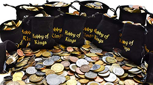 100 Different Coins from Many Countries Around The World Including A Coin Bag, Small Purse!