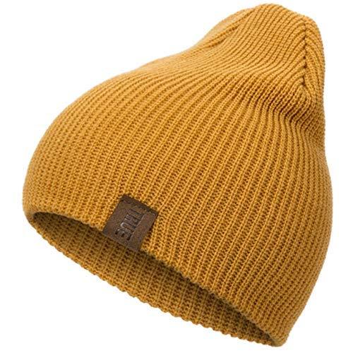 Strickmütze Wintermütze Feste Strickmütze Wintermützen für Frauen Männer Unisex Baumwolle Skullies Mützen Hut Kappe Hedging Kappe Farbe 7, W-Y, farbe 9