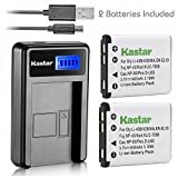 Kastar Battery (X2) & LCD USB Charger for Casio NP-80 & Exilim EX-G1 EX-H5 EX-H50 EX-JE10 EX-N1 EX-N5 EX-N10 EX-N20 EX-S8 EX-S9 EX-Z1 Z2 EX-Z16 Z28 Z37 Z88 EX-Z370 EX-ZS6 EX-ZS50 ZS150 QV-R70 R200…