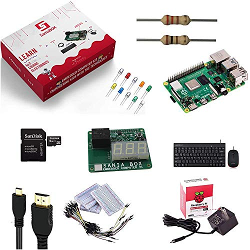 Sania Box - An Embedded Computer Building Kit for Kids   Includes Pre-Designed Add-On Board for Hands-On Experience About Coding, IoT, Electronics   Pre-Installed Python Programs   Ages 8 and Up
