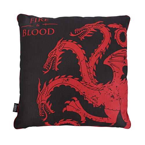 Half Moon Bay COJIN Game of Thrones Targaryen, Negro y Rojo, 46 x 46 cm